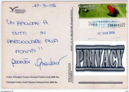 Costa Rica. Irazù Vulcan. Frog ATM Stamp. VG. - Costa Rica
