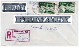 1965. Canadian Registered Letter. - Postal History