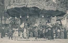 92) NEUILLY-SUR-SEINE : Fête Foraine - Le Manège Des Taureaux (1906) Qualité TOP !!! - Neuilly Sur Seine