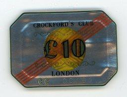 Plaque Jeton De Casino  Crockford's Club London - Casino