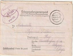 "STALAG : PK  Met Blinde DCS ""13.11.42"" + ""STALAG  VIII A / 5 / Geprüft "" Naar HUY  ( VIII A = GÖRLITZ) - Lettere"