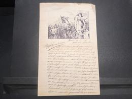 BELGIQUE - Courrier Illustré D'un Soldat Belge En 1917 - L 14906 - Documents