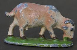 Ca4.c- MOUTON CHEVRE BOUC BREBIS  Figurine Ancienne Animal Métal Alu Ferme - Pigs