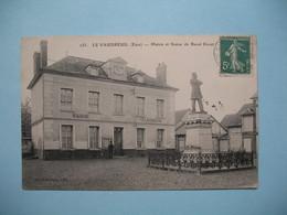 CPA Le Vaudreuil  Mairie Et Statue De Raoul Duval  1912 - Le Vaudreuil