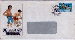 Anguilla. Unicef Cover And Stamp. . - Anguilla (1968-...)