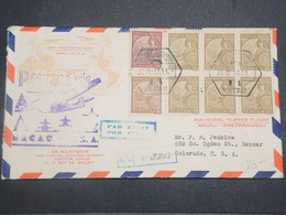 MACAO - Enveloppe En Recommandé 1er Vol Macao / San Francisco En 1937 - L 14908 - Macao