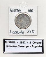 Austria - 1912 - 2 Corone - Francesco Giuseppe - Argento - (MW443) - Austria