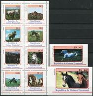 EQUATORIAL GUINEA 1976 Horses Fauna MNH - Equatorial Guinea