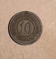 TOKEN JETON GETTONE GERMANIA KRIEGSGE FANGENEN LAGER ULM PRIGIONIERI DI GUERRA 10 - Monetari/ Di Necessità