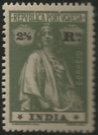 Portuguese India 1913-21 Ceres Name And Value In Black A21 Hinge Mark - Posta
