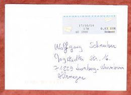 Brief, EF Label, Bordeaux Nach Leonberg 2014 (48106) - France