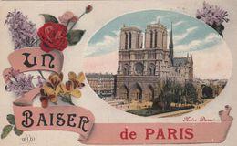 Cp , 75 , PARIS , Notre-Dame , Un Baiser De Paris - Churches