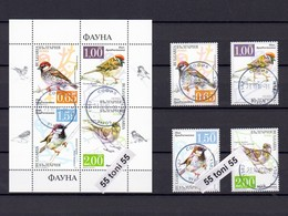 2017 FAUNA- Birds SPARROWS 4v.+S/S- Used/oblitere (O) Bulgaria/Bulgarie - Sparrows