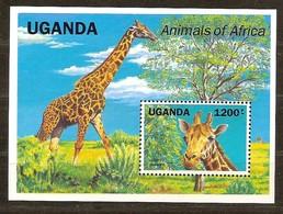 Ouganda Uganda Oeganda 1991 Yvertn° Bloc 148 *** MNH Cote 12 Euro Faune Girafe Giraffe - Ouganda (1962-...)