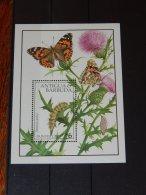Antigua - 1991 Butterflies Block (2) MNH__(TH-13189) - Antigua And Barbuda (1981-...)