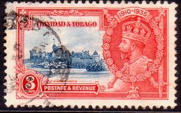TRINIDAD & TOBAGO 1935 SG #240 3c Used Silver Jubilee - Trinidad & Tobago (...-1961)