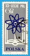 Polonia. Poland. 1964. Michel # 1505. Atom Symbol And Book - Usados