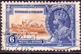 TRINIDAD & TOBAGO 1935 SG #241 6c Used Silver Jubilee - Trinidad & Tobago (...-1961)