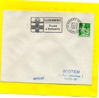 Flamme Postale - La Bernerie En Retz - 44 - 1957-59 Moissonneuse