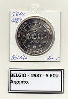 Belgio - 1987 - 5 ECU - Argento - (MW440) - Belgio