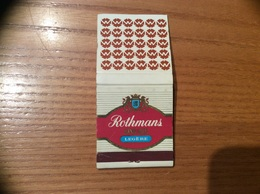 "Pochette D'allumettes SEITA ""Rothmans LEGERE"" PUB Hotel MERCURE Type 2 - Boites D'allumettes"