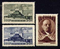 URSS - 1081/1083* - 23è ANNIVERSAIRE DE LA MORT DE LENINE - Neufs