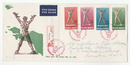 1963 REGISTERED Air Mail INDONESIA FDC Stamps WEST IRIAN Cover Airmail Label - Indonesia