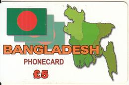 UK - Bangladesh, Phonacall Global Prepaid Card 5 Pounds, Used - United Kingdom