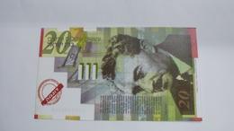 Israel-bank Note-20new Sheqalim-(sample)-note - Israel
