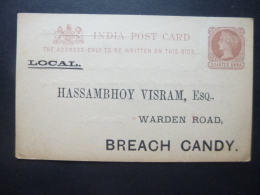 India QV Quarter Anna BROWN Prepaid Card MINT Election Vote Casting Card FOR HASSAMBHOY VISRAM - Ohne Zuordnung