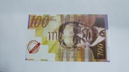 Israel-bank Note-100new Sheqalim-(sample)-note - Israel