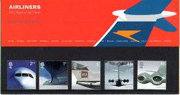 GREAT BRITAIN 2002 Airliners Presentation Pack - Presentation Packs