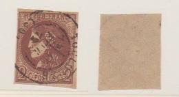 N 40 B / 2 Centimes Brun Rouge / Report 2 / Oblitéré - 1870 Emission De Bordeaux