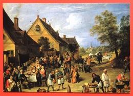 740241 David TENIERS II ~ Mother Child BREASTFEEDING Pipe Smoking Music Instrument VIOLIN Flemish Art Painting Postcard - Peintures & Tableaux