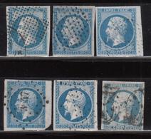 1854  YVERT Nº 14 A , 14 B - 1853-1860 Napoléon III