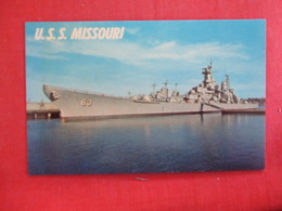 U.S.S. Missouri  Ref 2887 - Warships