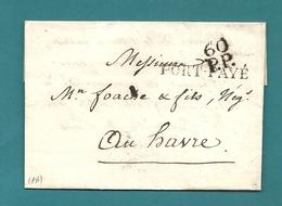 Dispersion D'une Collection De Paris. Pour FOACHE Au Havre. En Port Payé - 1849-1876: Classic Period