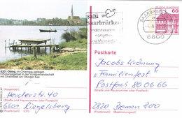 Deutschland Bildpostkarte Obing Chiemgau - See, Boot, Kirche, Schwan - Bildpostkarten - Gebraucht