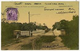 Manaos Ponte De Ferro Na Cachoeira Grande Amazonas Train  Stamped But Not Postally Used - Manaus