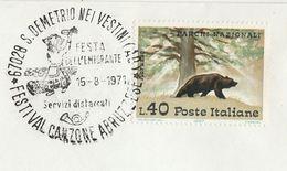 1971 S DEMETRO Nei Vetsini LUXEMBOURG  FESTA  DEL L'EMIGRANTE EVENT COVER  Stamps Bear Costume - Luxembourg