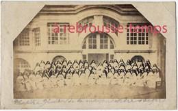 Photo Format CDV Vers 1865-couvent Ou Hopital Nonnes Religieuses-chapitre Général De La Maison Mère D'Angers - Old (before 1900)
