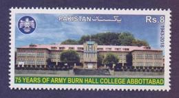PAKISTAN 2018, 75 Years Of ARMY BURN HALL College Abbottabad, 1v MNH - Pakistan