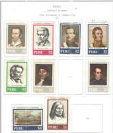 Perù PA 1971 150 Ann.Indip. Scott.C313/318+320/322+ Nuovi See Scan On Scott.Pages - Perù