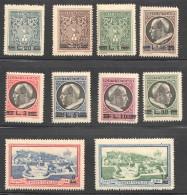 1945  +/Série Compète Surcharges De Nouvelles Valeurs  Sass 102-9, E7-8  ** MNH - Vatican