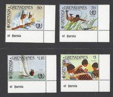 Grenada Grenadines 1985, Mi 657-660, MNH, International Year Of Youth, Chess, Sailing, Diving, Healthcare - Grenada (1974-...)