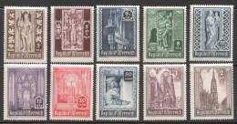 1946  Cathédrale St Etienne  MiNr 791-800  ** MNH - 1945-.... 2ª República