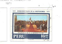 Perù PA 1971 150 Ann.Indip. Scott.C325+ Used See Scan On Scott.Pages - Perù