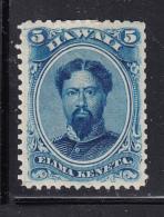 Hawaii 1864-86 MH Scott #32 5c King Kamehameha V - Hinge Remnent - Hawaii