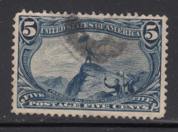 USA 1898 Used Scott #288 5c Fremont On Rocky Mountains Trans-Mississippi - Perf Faults - Oblitérés