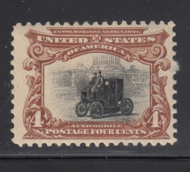 USA 1901 MH Scott #296 4c Electric Car Pan-American Exposition - Hinge Remnent - Unused Stamps
